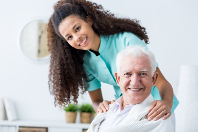 Image of elderly man having private home care